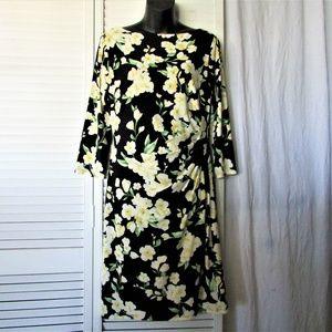 Lauren Ralph Lauren floral side ruched dress 10